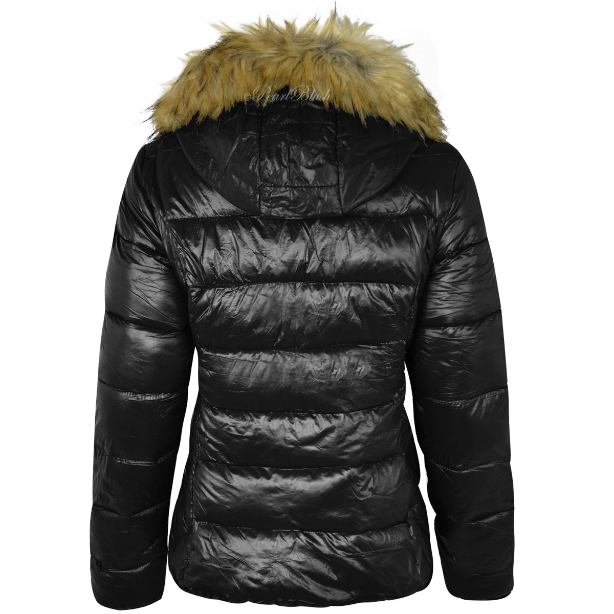 2017 New Design Of Womens Ladies Fur Hood Puffer Quilted